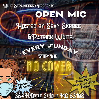OPEN MIC Every Sunday 7pm to 10pm Come Sing, Play, Recite, Speak, Stand Up - Enjoy.
