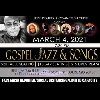 Gospel Jazz & Songs Featuring Tasha B   Chris Connor   Regina Holloway   Trevon Keithly    Lakia Bryant   Jordan Brewer